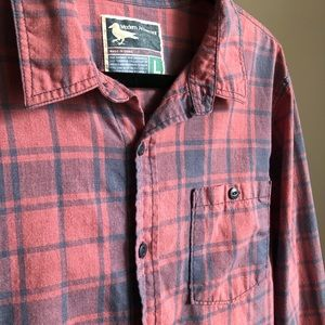 Red & Blue Plaid Button Down Flannel